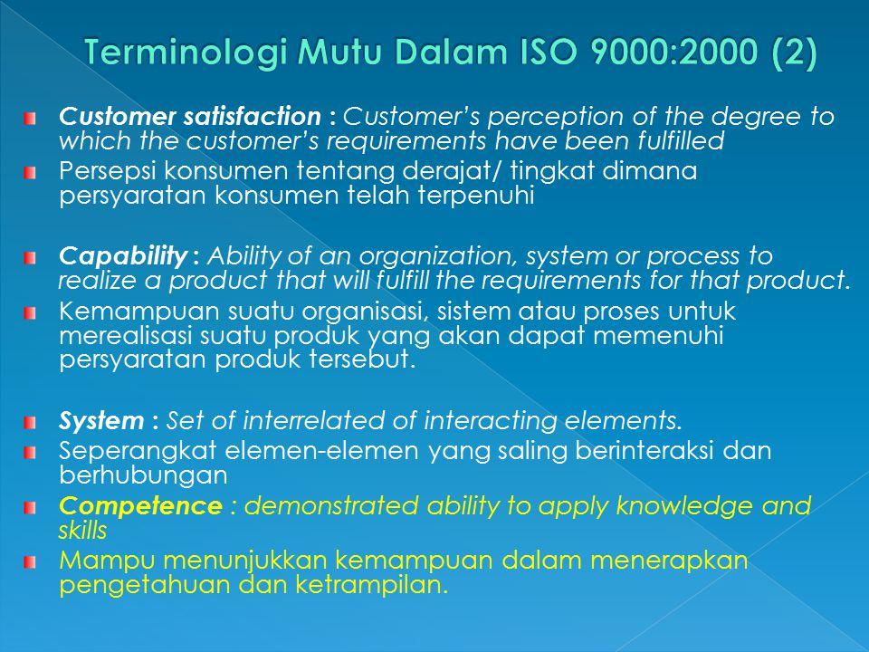 Specification (Spesifikasi) : Document stating requirements Dokumen yang menyatakan persyaratan.