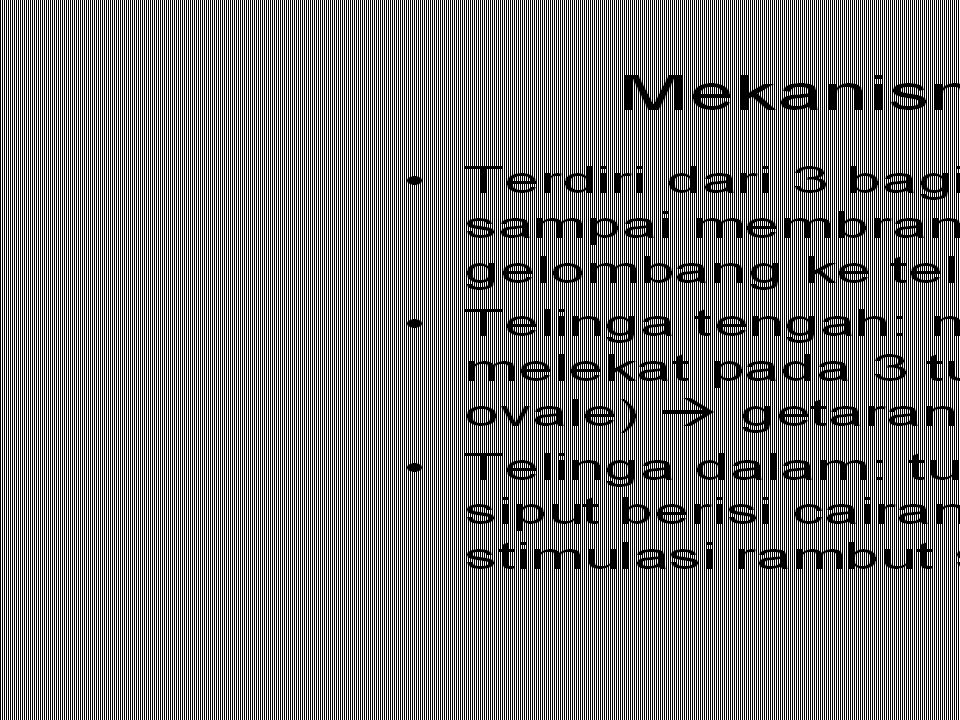 Mechanics of hearing