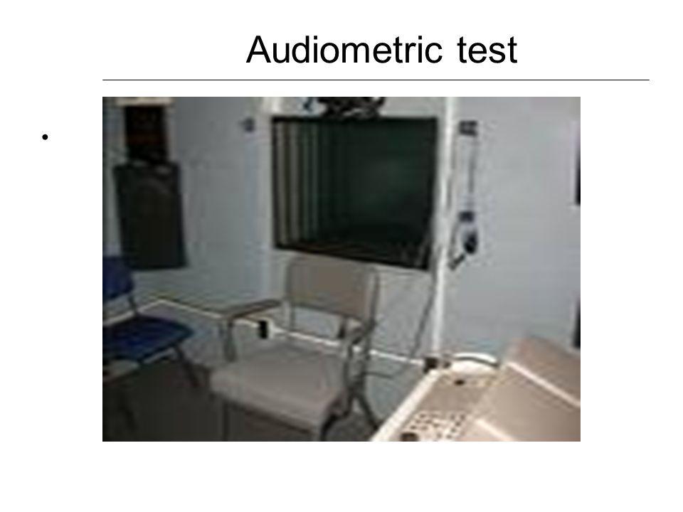 Audiometric test