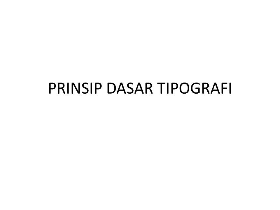 Sans Serif Dengan ciri tanpa sirip/serif, dan memiliki ketebalan huruf yang sama atau hampir sama.