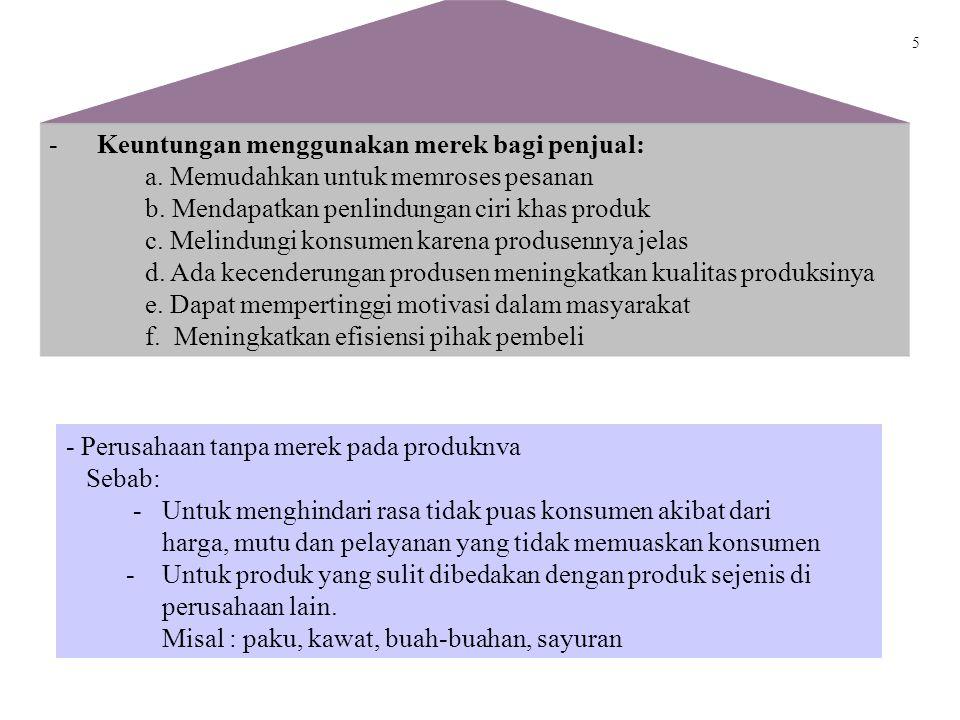 4 2. Bungkus atau Kemasan Produk Sebagai salah satu strategi bersaing karena: - Bungkus yang indah akan menambah hasrat membeli - Bungkus yang khas ak