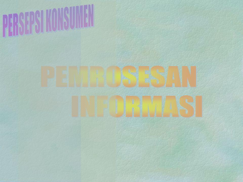 Persepsi Konsumen 5.Persepsi Produk/Pesan14 6. Persepsi Berbeda dipengaruhi Tiga Hal 15 7.
