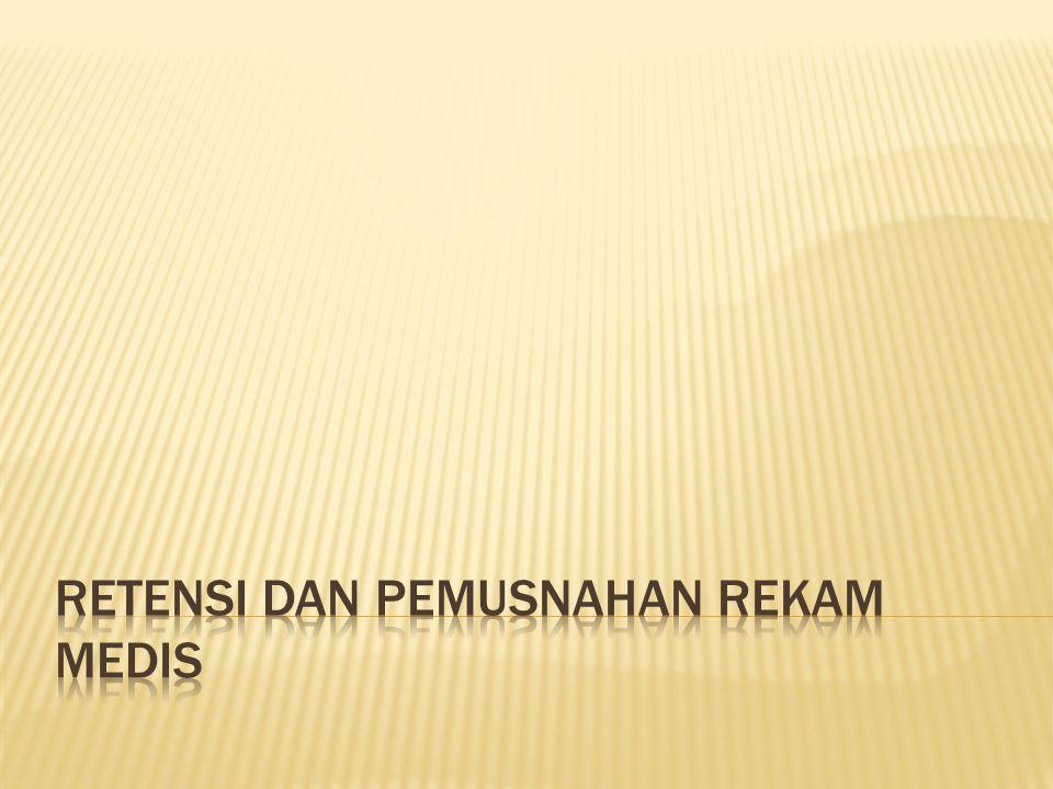 1.Terbatasnya ruang penyimpanan berkas RM 2. Terbatasnya rak penyimpanan berkas RM 3.