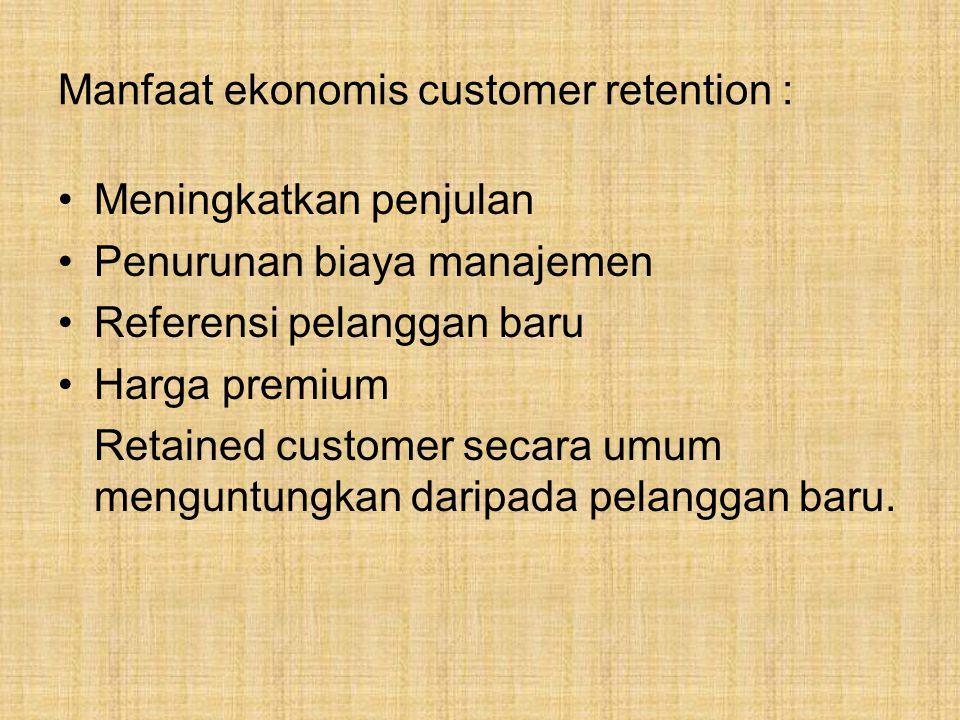 Pelanggan mana yg harus dipertahankan .