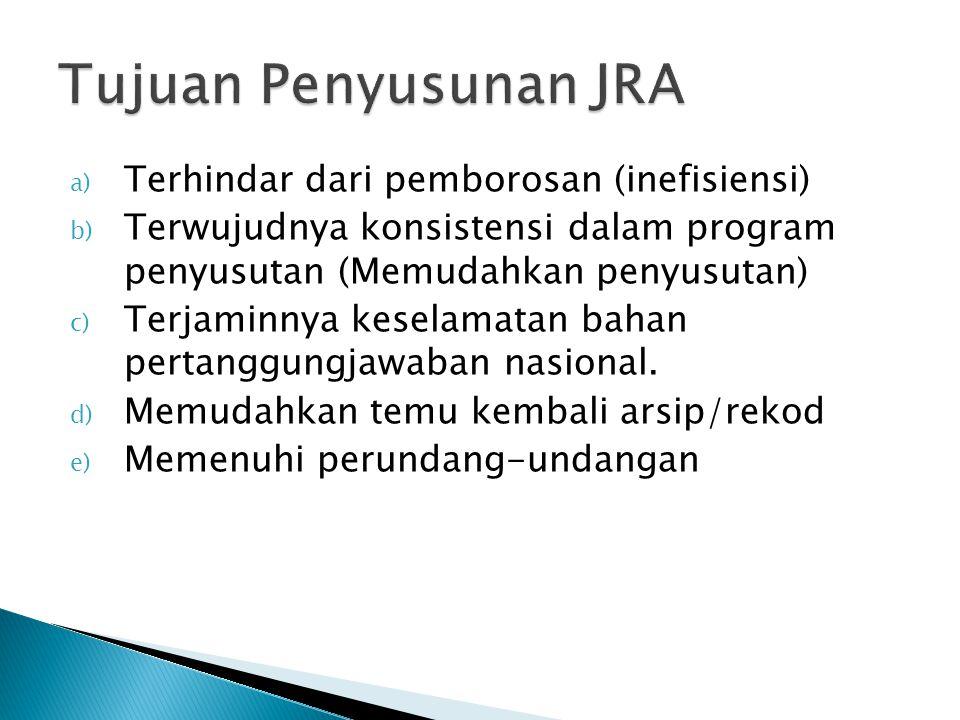 a) Terhindar dari pemborosan (inefisiensi) b) Terwujudnya konsistensi dalam program penyusutan (Memudahkan penyusutan) c) Terjaminnya keselamatan baha