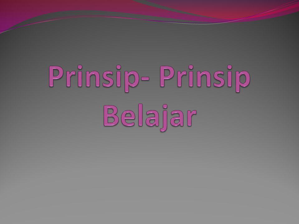 Prinsip-2 Belajar 1.