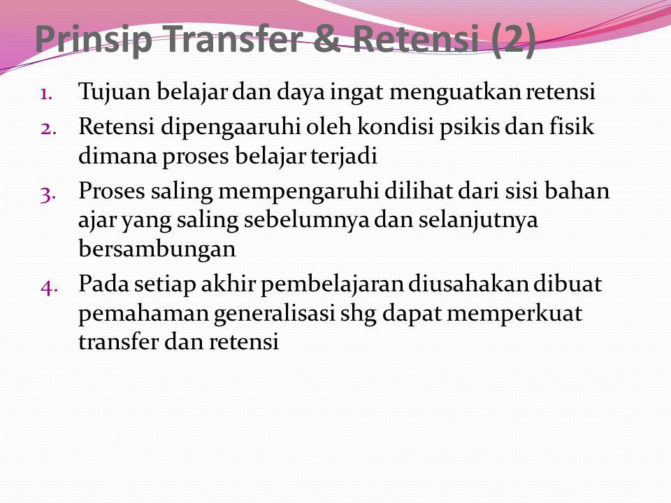 PRINSIP KEAKTIFAN (3) 1.