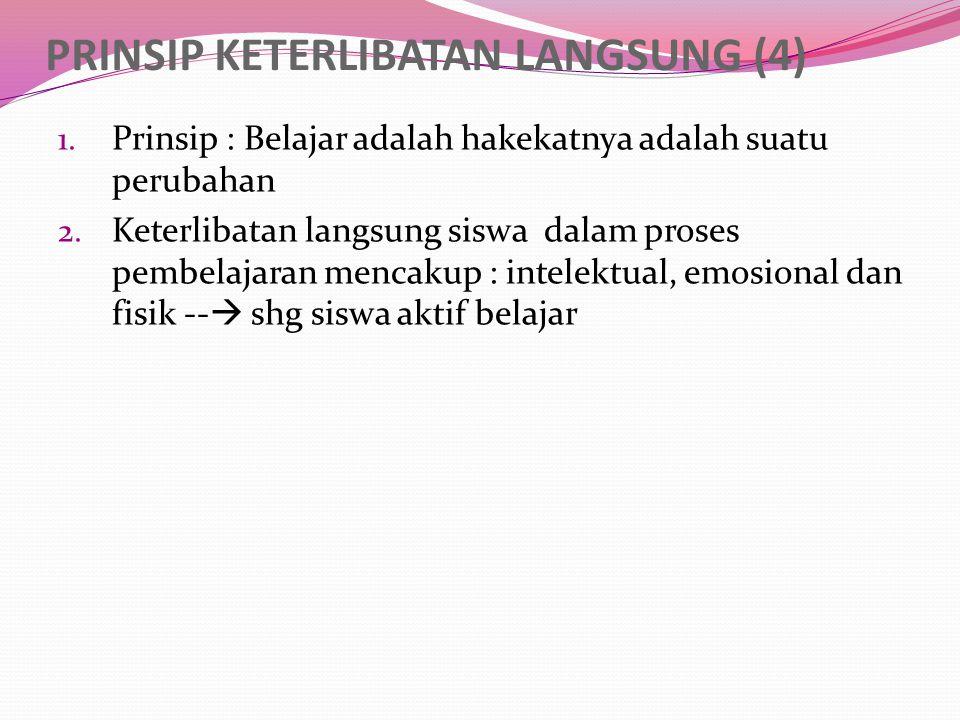 PRINSIP PENGULANGAN (5) 1.