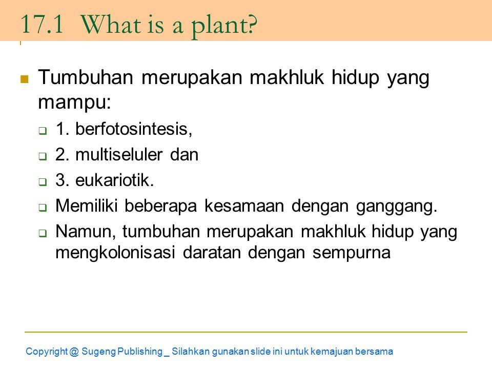 Tumbuhan merupakan makhluk hidup yang mampu:  1.berfotosintesis,  2.