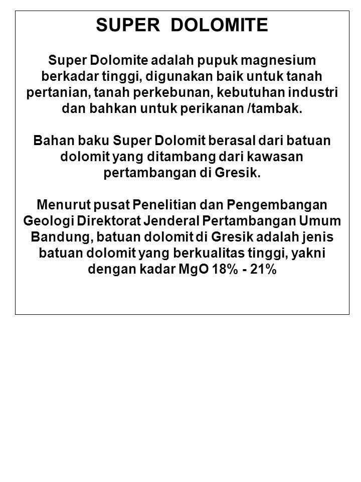 Keunggulan Pupuk Super Dolomit 1.