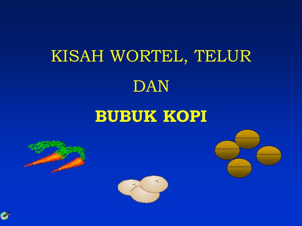 KISAH WORTEL, TELUR DAN BUBUK KOPI