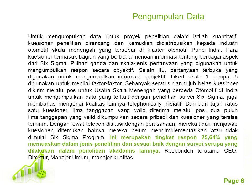 Free Powerpoint Templates Page 6 Pengumpulan Data Untuk mengumpulkan data untuk proyek penelitian dalam istilah kuantitatif, kuesioner penelitian dira
