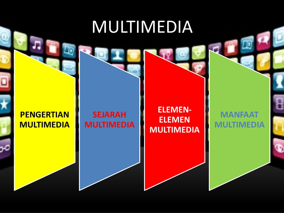 MULTIMEDIA PENGERTIAN MULTIMEDIA SEJARAH MULTIMEDIA ELEMEN- ELEMEN MULTIMEDIA MANFAAT MULTIMEDIA