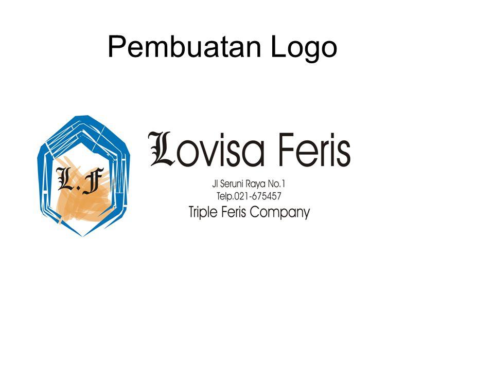 Tahap Pembuatan Logo Awalnya gunakan polygon tool untuk membuat segi 5 nya.