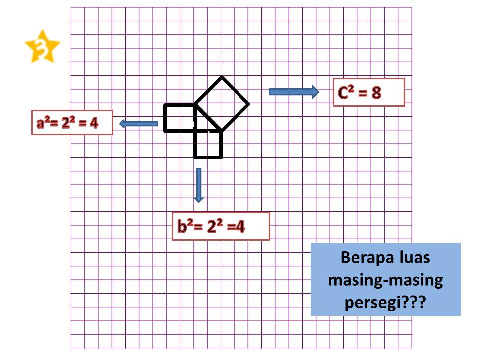 Berapa luas masing-masing persegi??? a b c