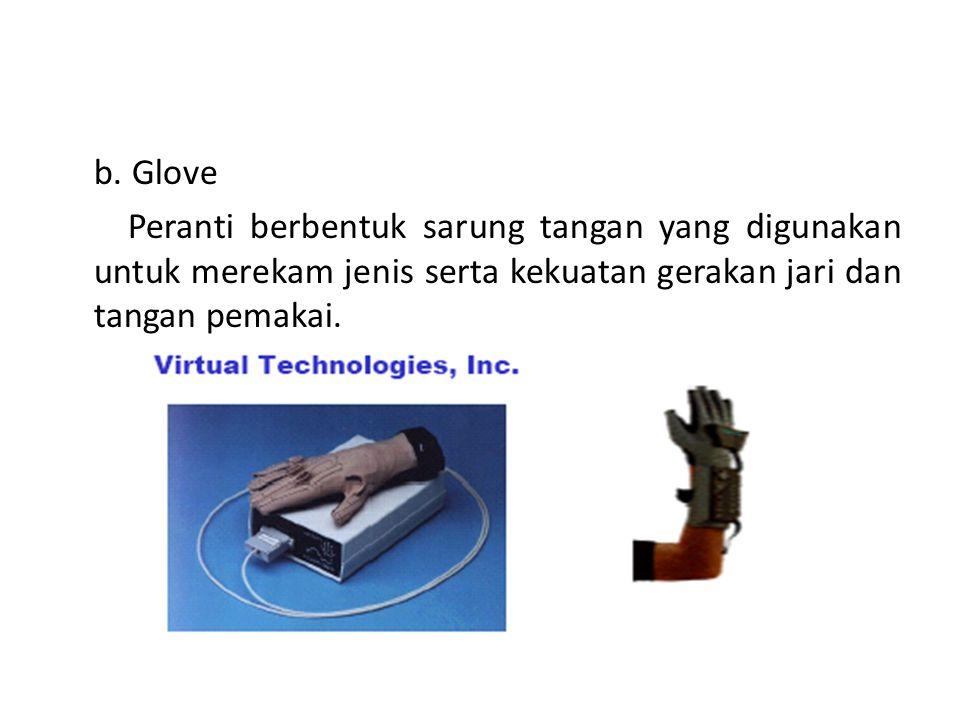 5. Gerakan Peranti yang digunakan untuk memantau gerakan manusia yang banyak dimanfaatkan pada virtual reality adalah : a. Headset Peranti yang dipasa