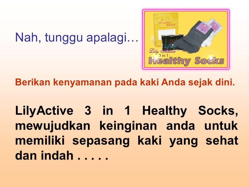 Berikan kenyamanan pada kaki Anda sejak dini. LilyActive 3 in 1 Healthy Socks, mewujudkan keinginan anda untuk memiliki sepasang kaki yang sehat dan i