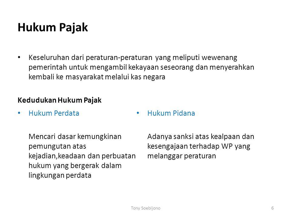 Asas pemungutan pajak Indonesia  Dari ketentuan-ketentuan yang dimuat dalam UU no 7 /1983 sebagaimana telah diubah dengan UU no 10 /1994, khususnya y