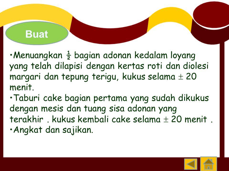 Tepung jagung 250 gram Baking powder ½ sdm Tapioka 20 – 25 % Garam ½ sdm Air secukupnya