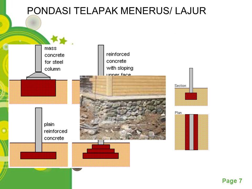 Powerpoint Templates Page 7 PONDASI TELAPAK MENERUS/ LAJUR