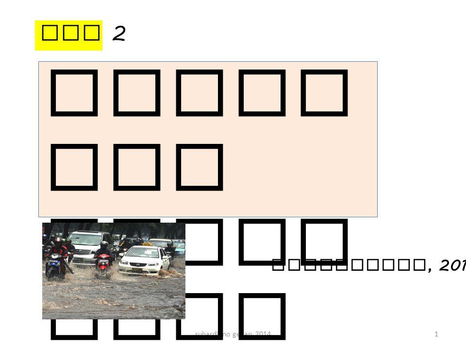 suhardjono genap 201412 Jari ngan ters ier bera da di seti ap blok Jaringan sekunder ( saluran 1.1, 1.2, 2.1, 3.1, dan 3.2) Jaringan primer, sungai atau saluran draianse utama Muara Drainase Jaringan saluran drainase perkotaan