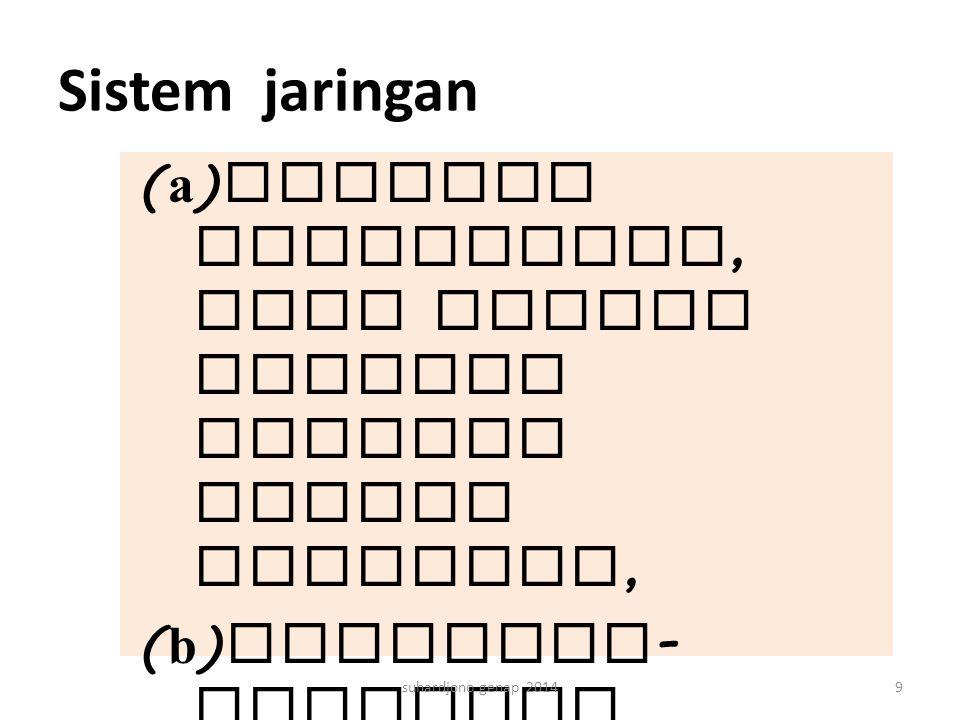 Sistem jaringan (a)saluran pembuangan, baik berupa saluran terbuka maupun tertutup, (b)bangunan - bangunan pengumpul, dan (c)berbagai bangunan lain su