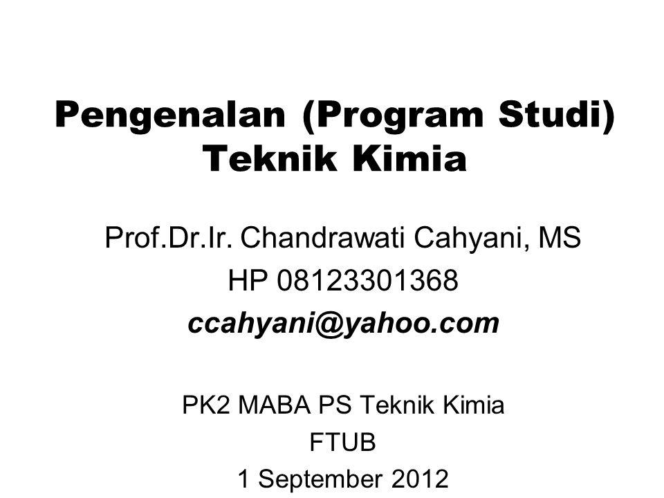 Pengenalan Teknik Kimia- ccahyani@yahoo.com What do Chemical Engineers do.
