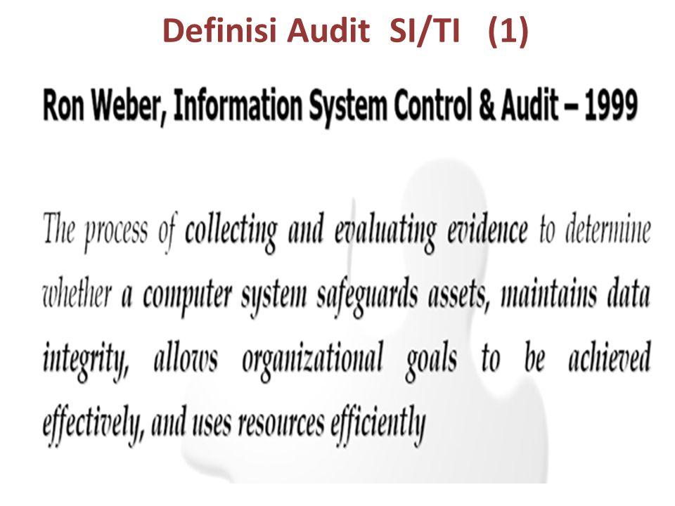 (Weber, 1999) Audit Sistem Informasi merupakan proses pengumpulan dan evaluasi fakta untuk menentukan apakah sistem komputer yang digunakan telah dapat melindungi aset milik organisasi, mampu menjaga integritas data, dapat membantu pencapaian tujuan organisasi secara efektif, serta menggunakan sumber daya yang dimiliki secara efisien