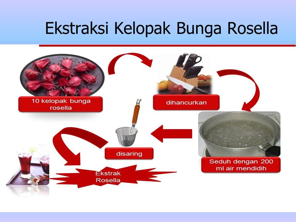 Ekstraksi Kelopak Bunga Rosella