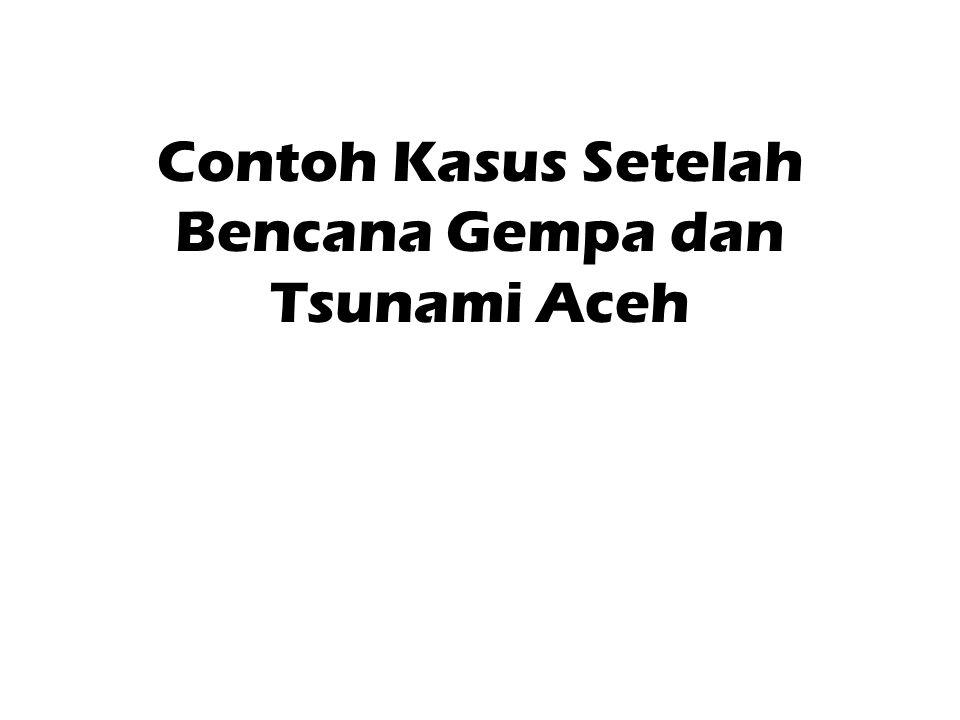 Contoh Kasus Setelah Bencana Gempa dan Tsunami Aceh