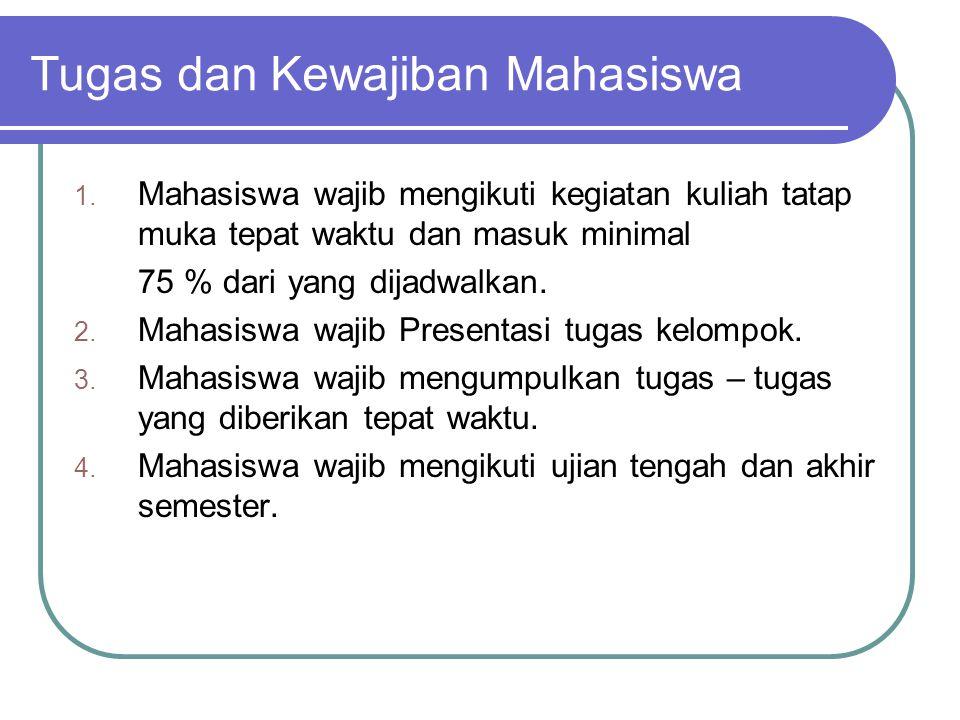 Tugas dan Kewajiban Mahasiswa 1.
