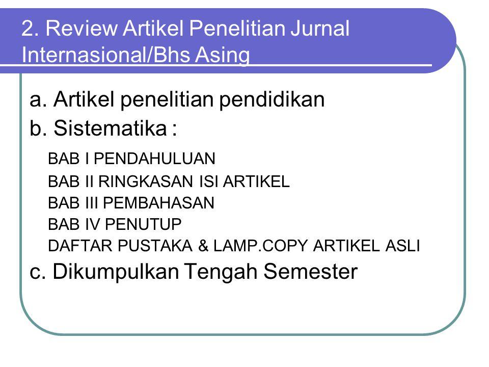 2.Review Artikel Penelitian Jurnal Internasional/Bhs Asing a.