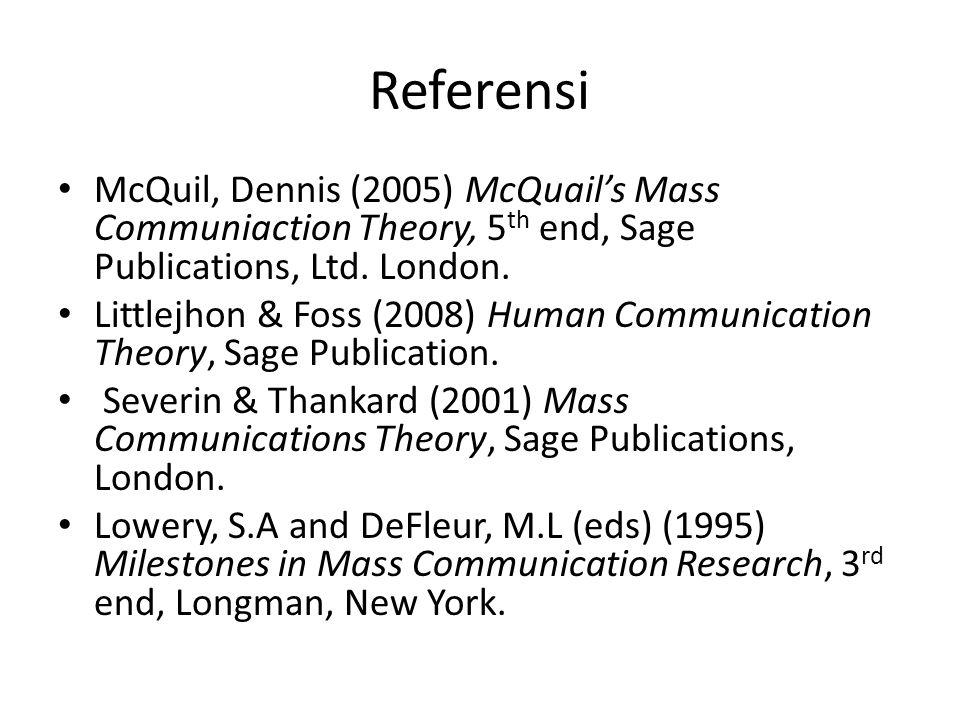 Pokok Bahasan 1.Perkembangan komunikasi massa – Komunikasi Lisan –Tulisan - AudioVisual 2.Konsep dan model komunikasi massa – Teori media dan teori sosial – Paradigma Pendekatan 3.Komunikasi massa dan budaya – Media baru 4.Teori media normatif – Empat teori pers 5.Struktur Media dan Kinerja – Media Economics and Governance