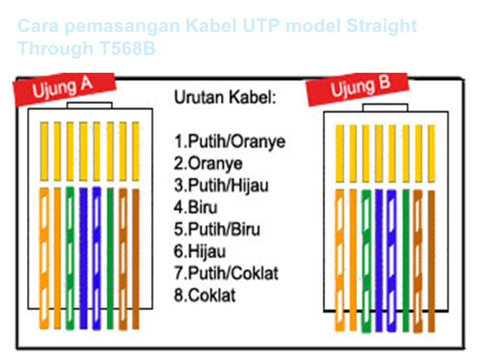 Cara pemasangan Kabel UTP model Straight Through T568B