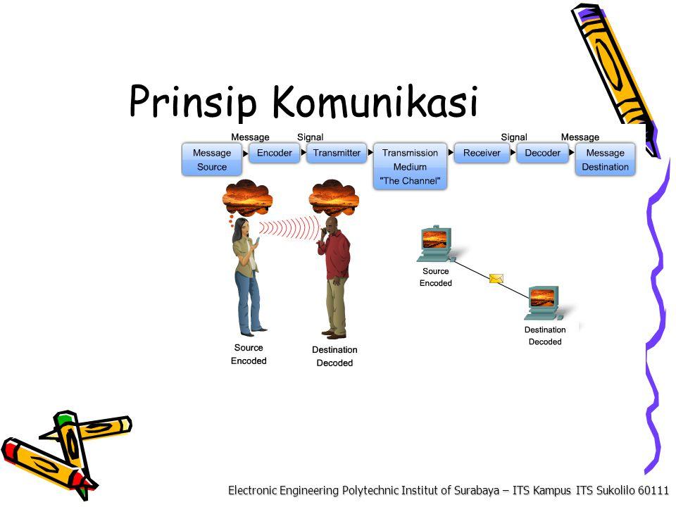 Electronic Engineering Polytechnic Institut of Surabaya – ITS Kampus ITS Sukolilo 60111 Komponen Komunikasi