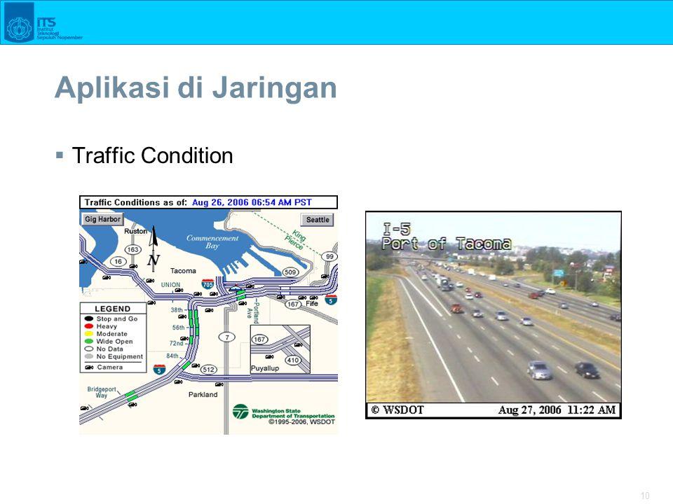 10 Aplikasi di Jaringan  Traffic Condition