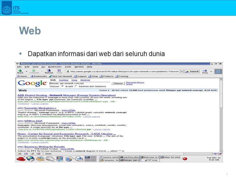 4 Web  Dapatkan informasi dari web dari seluruh dunia