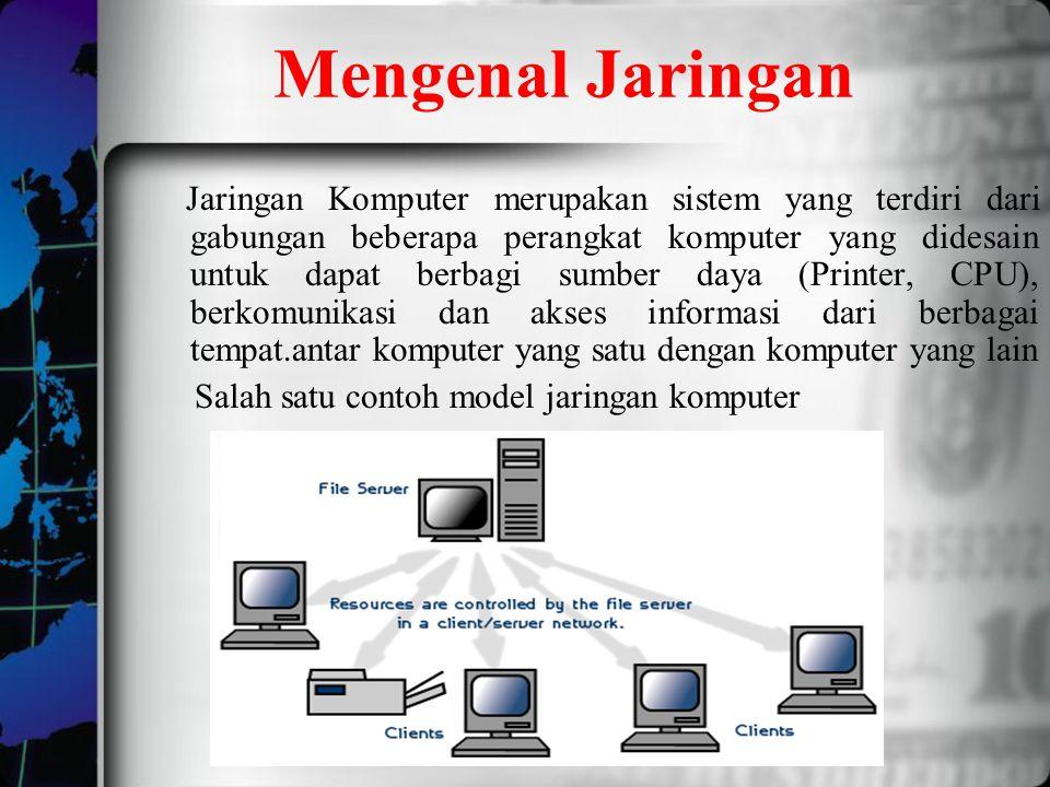 Mengenal Jaringan Jaringan Komputer merupakan sistem yang terdiri dari gabungan beberapa perangkat komputer yang didesain untuk dapat berbagi sumber d