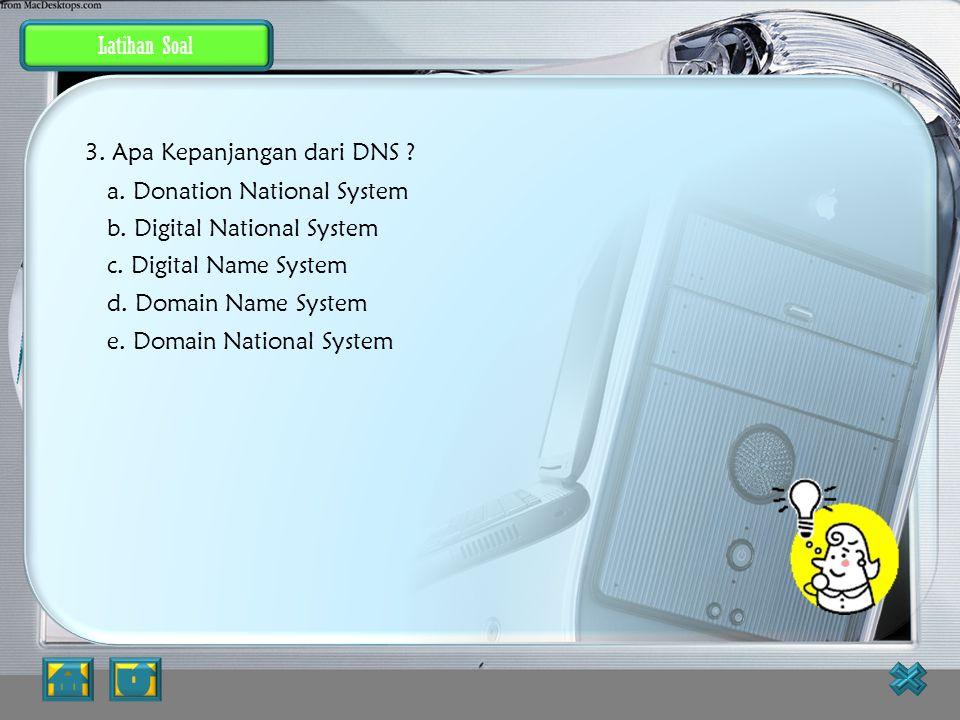 Jawaban JAWABAN BENAR 2. Dibawah ini adalah jenis-jenis jaringan, kecuali ? a. Local Area Network b. Metropolitan Area Network c. Wire Area Network d.