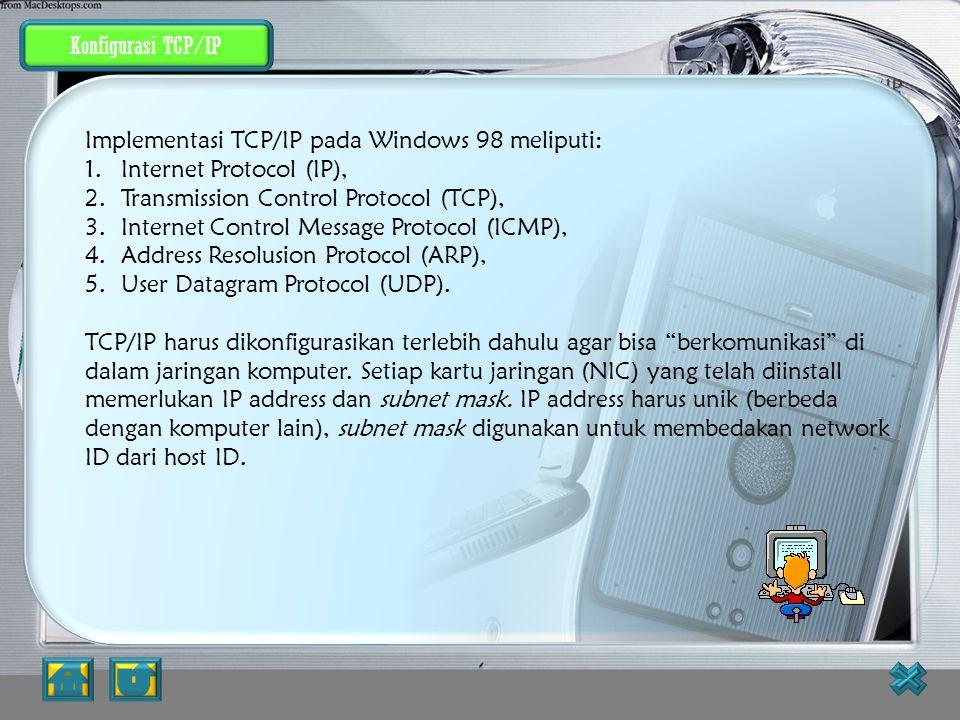 """Menginstal Protokol Jaringan Untuk dapat """"berkomunikasi"""" dalam jaringan komputer, komputer harus mempunyai protokol. Prosedur yang dapat dilakukan unt"""