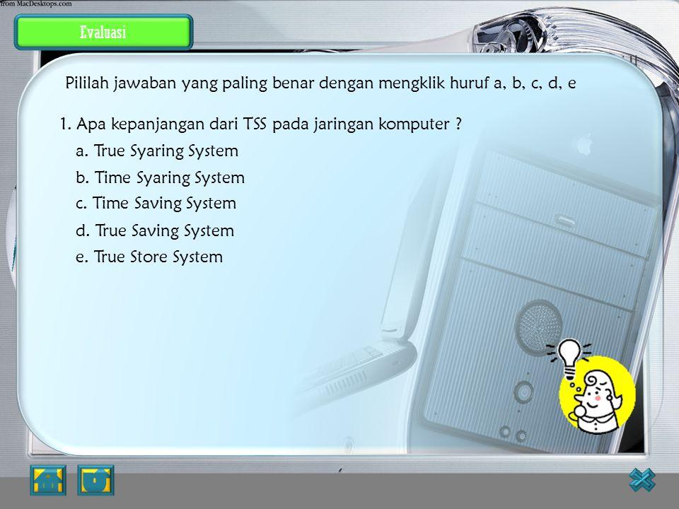 Latihan Soal JAWABAN BENAR 2.Mengapa Komputer perlu diberi nama? a. Supaya bisa saling berkenalan b. Supaya bisa beroperasi c. Supaya bisa dikenali ol