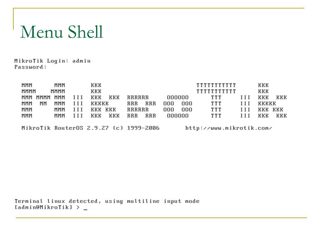 Tahapan Configurasi  Set Interface with shell and Winbox