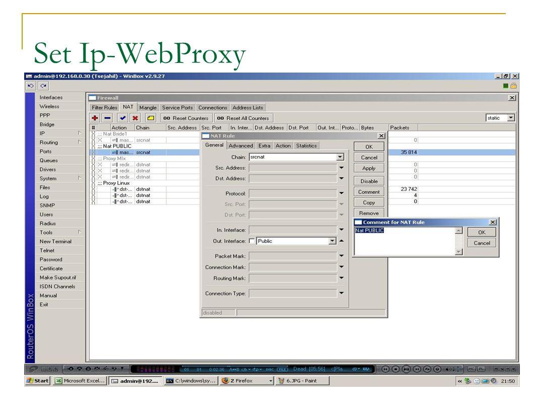 Set Ip-WebProxy