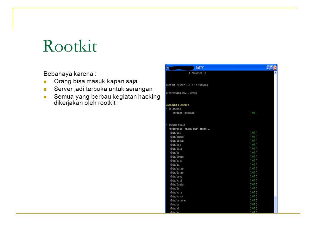 Spoofprotect Linux untuk protek spoofing /etc/network/options Spoofprotect=yes /etc/init.d/networking restart