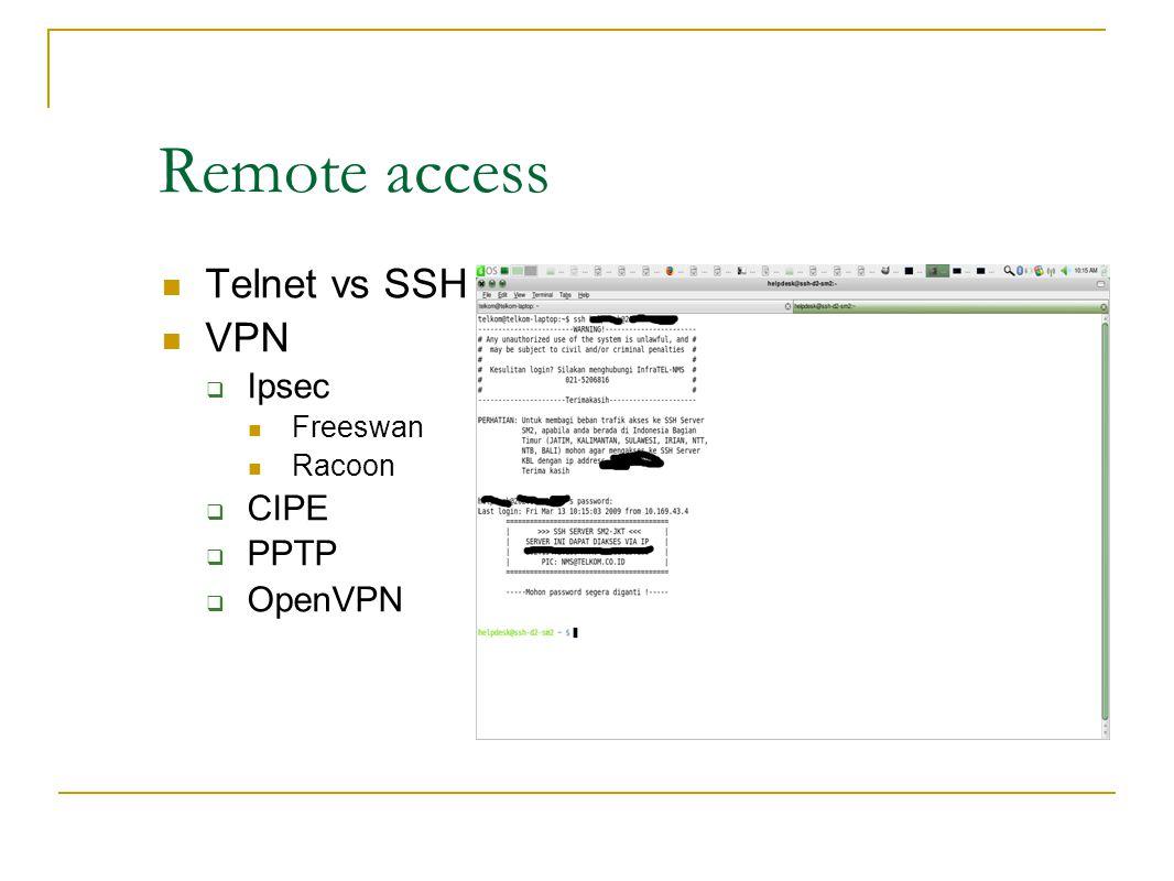 Melindungi remote login 1.Ganti port yang tidak biasanya untuk ssh standar 22 jadi ke 222 2.