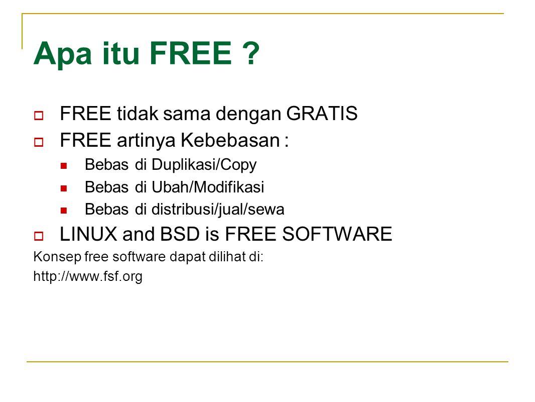 Bagaimana dg Software Aplikasi di Linux dan BSD.