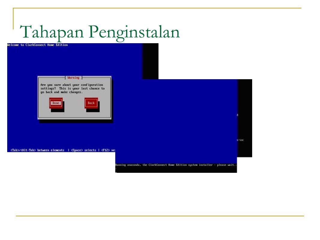 Format partisi dan instalasi paket