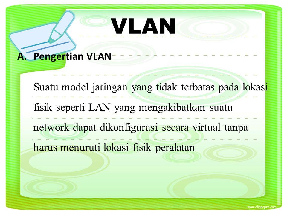 B.Model Jaringan Hierarki pada VLAN 1.