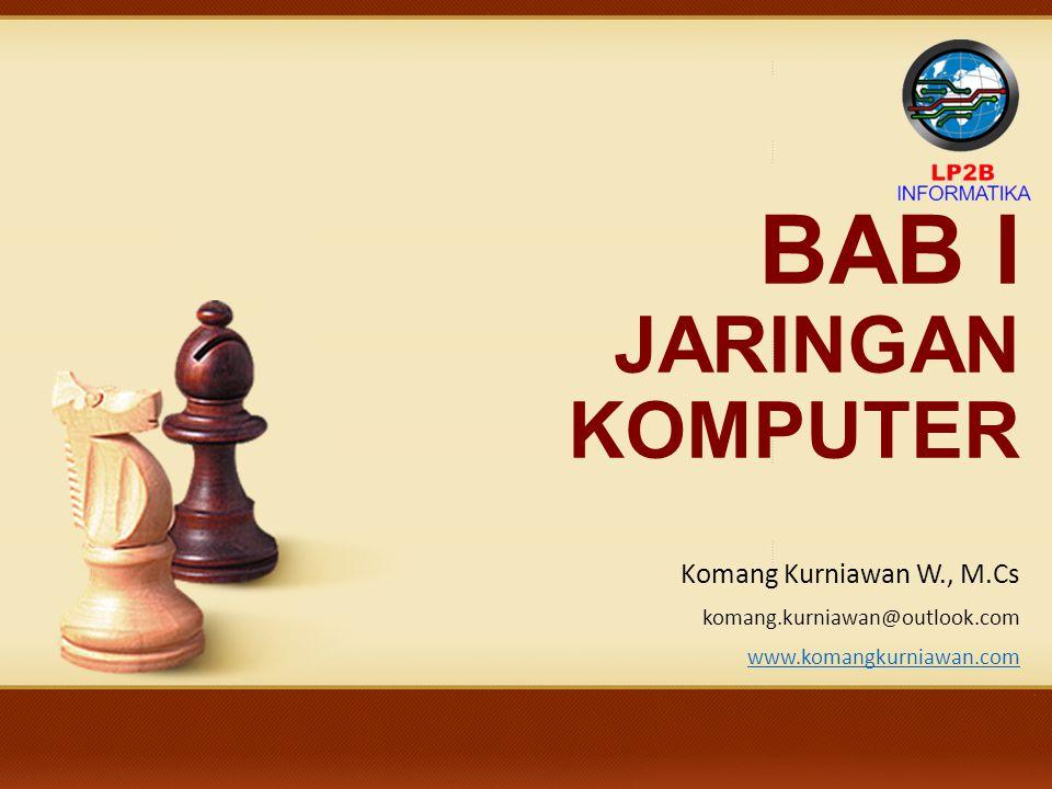 BAB I JARINGAN KOMPUTER Komang Kurniawan W., M.Cs komang.kurniawan@outlook.com www.komangkurniawan.com Jaringan Komputer
