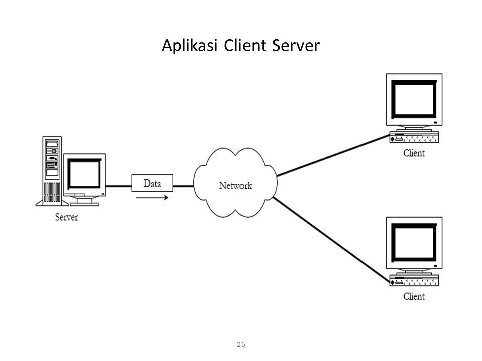 26 Aplikasi Client Server